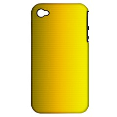Yellow Gradient Background Apple iPhone 4/4S Hardshell Case (PC+Silicone)