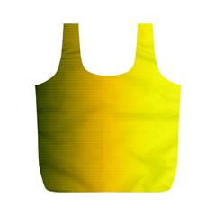 Yellow Gradient Background Full Print Recycle Bags (M)