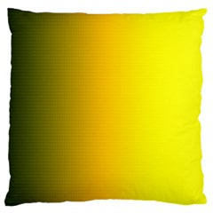 Yellow Gradient Background Large Flano Cushion Case (One Side)