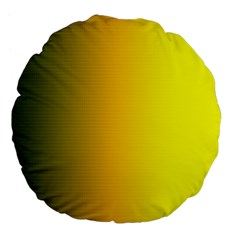 Yellow Gradient Background Large 18  Premium Flano Round Cushions
