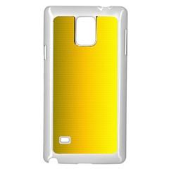 Yellow Gradient Background Samsung Galaxy Note 4 Case (White)