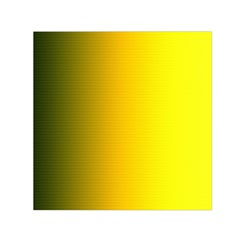 Yellow Gradient Background Small Satin Scarf (Square)
