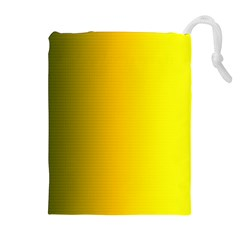 Yellow Gradient Background Drawstring Pouches (Extra Large)