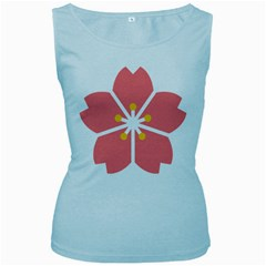 Sakura Heart Guild Flower Floral Women s Baby Blue Tank Top