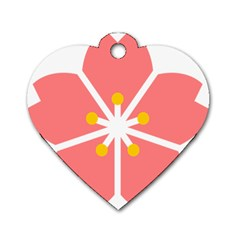 Sakura Heart Guild Flower Floral Dog Tag Heart (two Sides)