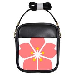 Sakura Heart Guild Flower Floral Girls Sling Bags