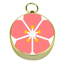 Sakura Heart Guild Flower Floral Gold Compasses