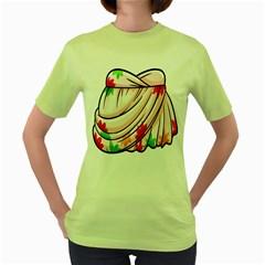 Petal Pattern Dress Flower Women s Green T Shirt