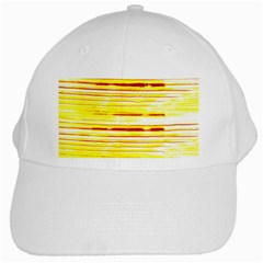 Yellow Curves Background White Cap