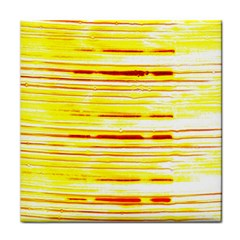 Yellow Curves Background Tile Coasters
