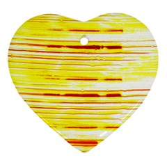 Yellow Curves Background Ornament (heart)