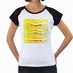 Yellow Curves Background Women s Cap Sleeve T