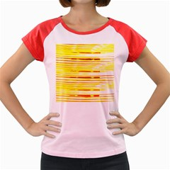 Yellow Curves Background Women s Cap Sleeve T Shirt