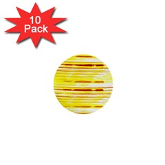 Yellow Curves Background 1  Mini Buttons (10 pack)
