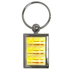 Yellow Curves Background Key Chains (Rectangle)