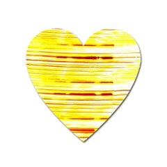 Yellow Curves Background Heart Magnet