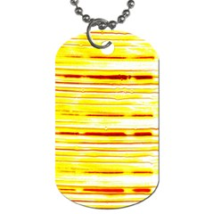 Yellow Curves Background Dog Tag (One Side)