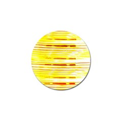 Yellow Curves Background Golf Ball Marker (10 Pack)