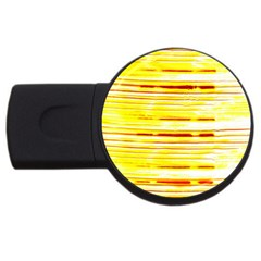 Yellow Curves Background Usb Flash Drive Round (2 Gb)