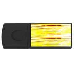 Yellow Curves Background USB Flash Drive Rectangular (2 GB)