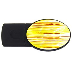 Yellow Curves Background Usb Flash Drive Oval (4 Gb)