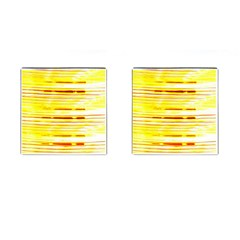 Yellow Curves Background Cufflinks (square)