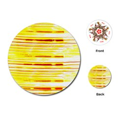 Yellow Curves Background Playing Cards (round)