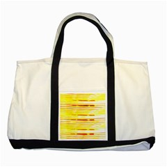 Yellow Curves Background Two Tone Tote Bag