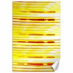 Yellow Curves Background Canvas 20  X 30
