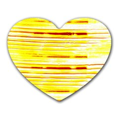 Yellow Curves Background Heart Mousepads