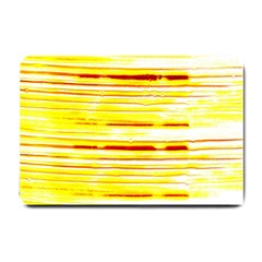Yellow Curves Background Small Doormat