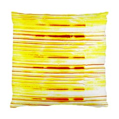 Yellow Curves Background Standard Cushion Case (One Side)