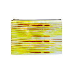 Yellow Curves Background Cosmetic Bag (medium)