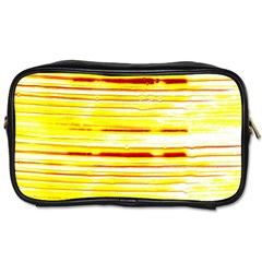 Yellow Curves Background Toiletries Bags