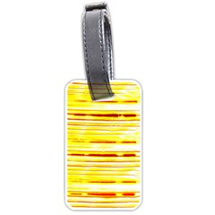 Yellow Curves Background Luggage Tags (two Sides)