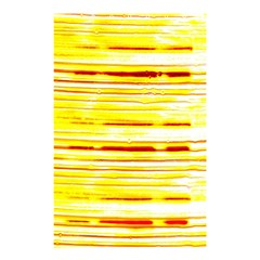 Yellow Curves Background Shower Curtain 48  X 72  (small)