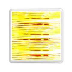 Yellow Curves Background Memory Card Reader (square)