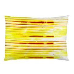 Yellow Curves Background Pillow Case (two Sides)