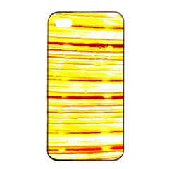 Yellow Curves Background Apple iPhone 4/4s Seamless Case (Black)