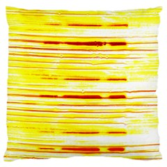 Yellow Curves Background Large Cushion Case (Two Sides)