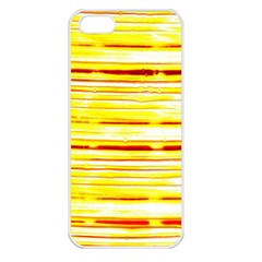Yellow Curves Background Apple iPhone 5 Seamless Case (White)