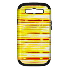 Yellow Curves Background Samsung Galaxy S III Hardshell Case (PC+Silicone)