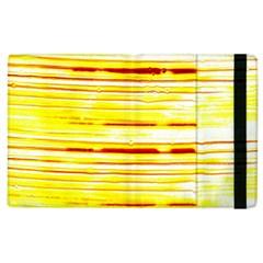 Yellow Curves Background Apple iPad 3/4 Flip Case