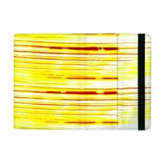 Yellow Curves Background Apple iPad Mini Flip Case