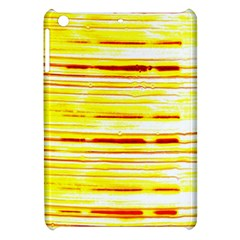 Yellow Curves Background Apple iPad Mini Hardshell Case