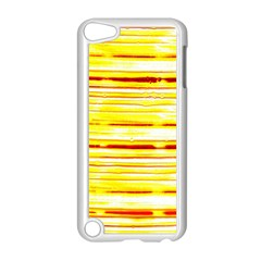 Yellow Curves Background Apple iPod Touch 5 Case (White)