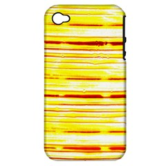 Yellow Curves Background Apple Iphone 4/4s Hardshell Case (pc+silicone)