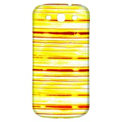 Yellow Curves Background Samsung Galaxy S3 S III Classic Hardshell Back Case