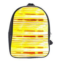 Yellow Curves Background School Bags (XL)