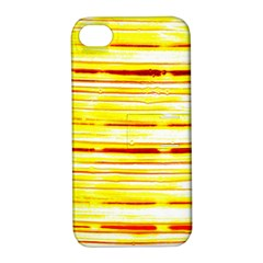 Yellow Curves Background Apple iPhone 4/4S Hardshell Case with Stand